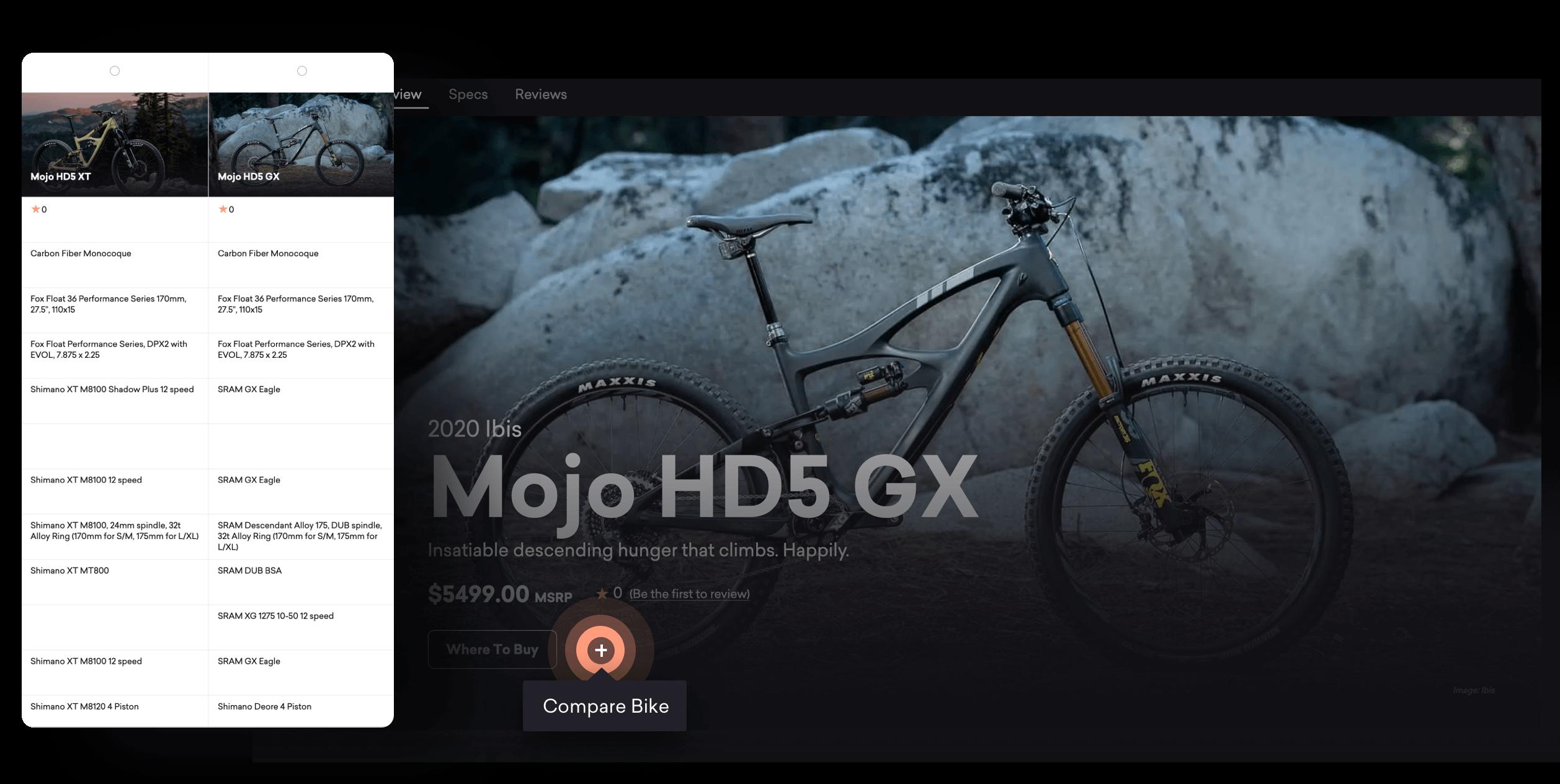 Compare Mountain Bikes