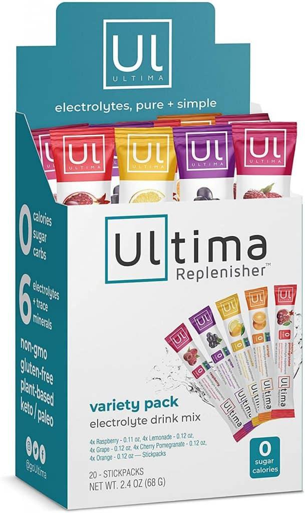 Ultima Replenisher Electrolyte Hydration Powder, Variety Pack